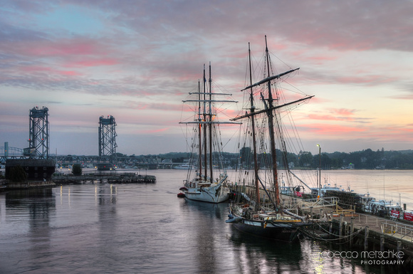 Daybreak: Tall Ships at Portsmouth Harbor