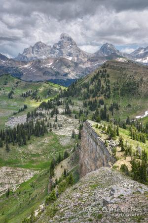 Raindance Teton Peaks from Alta Wyoming