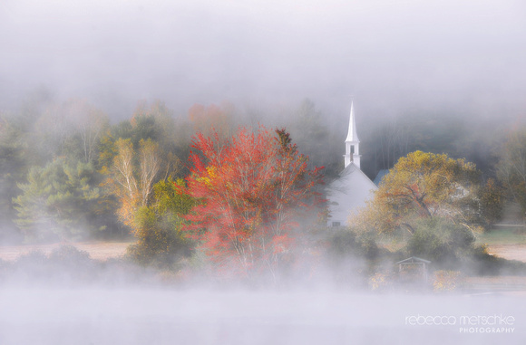 Dappled Fog Autumn New England